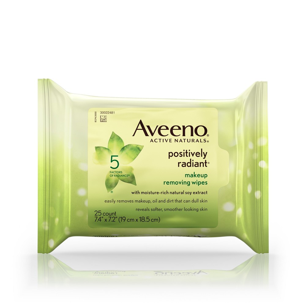 Aveeno Positively Radiant Makeup Removing Wipes - 25ct