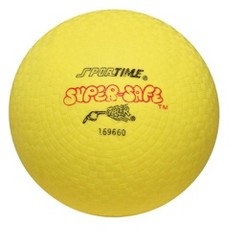 """""""Sportime Super-Safe Rubber Playground Ball, 10 Inches, Yellow"""""""