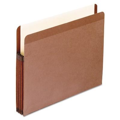 Pendaflex Premium Reinforced Expanding File Pockets Straight Cut 1 Pocket Letter Brown 85343