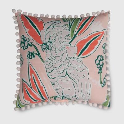 Square Ruffle Bird Outdoor Pillow - Opalhouse™