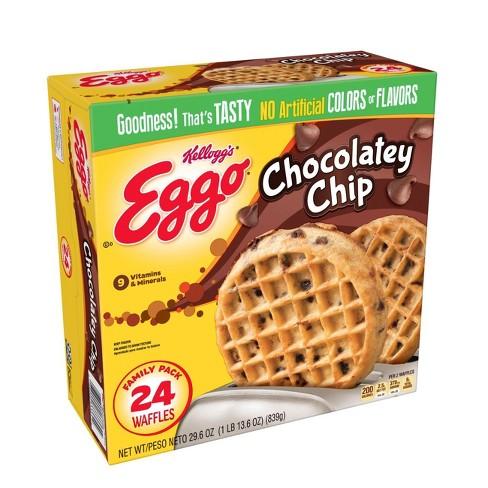 Kellogg's Eggo Chocolatey Chip Frozen Waffles Family Pack - 24ct - image 1 of 4