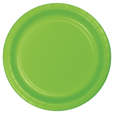 "60ct Green Paper Dinner Plate 9"" - Spritz™ - image 1 of 1"