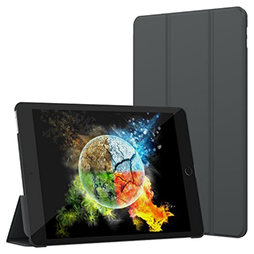 SuprJETech iPad 12.9 Slim-Fit Smart Case Cover with Auto-Sleep & Wake Feature - Dark Gray
