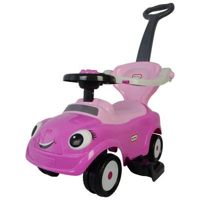 Best Ride On Cars Baby 3 in 1 Little Tikes Toy Push Vehicle Stroller, Walking Push Car, and Ride On, Pink
