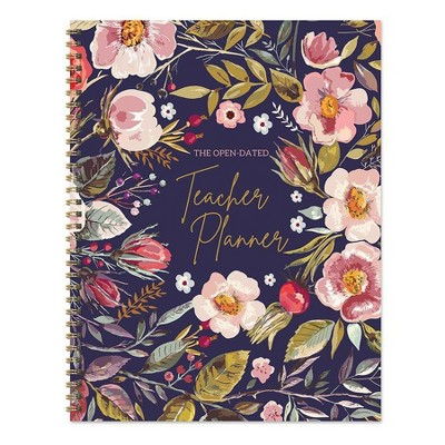 """Undated Teacher Planner 8.5"""" x 11"""" Large Weekly Lesson Plan Book Botanical Floral - TF Publishing"""