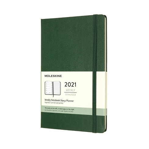 2021 Weekly Planner 12 Month Green - Moleskine - image 1 of 4