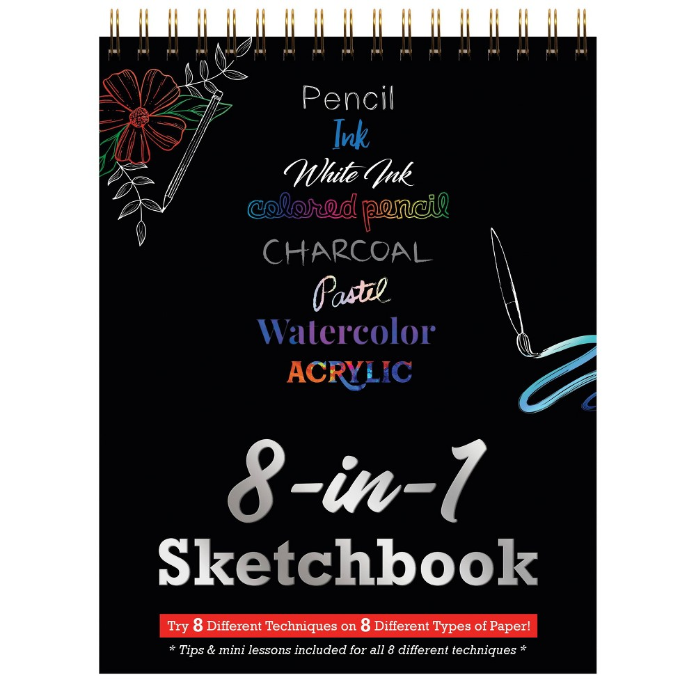 Image of 8-in-1 Coloring Sketchbook - Piccadilly