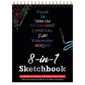 8-in-1 Coloring Sketchbook - Piccadilly