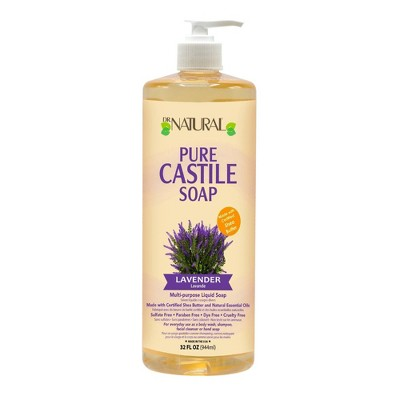 Dr. Natural Pure Castile Soap with Organic Shea Butter - Lavender - 32 fl oz