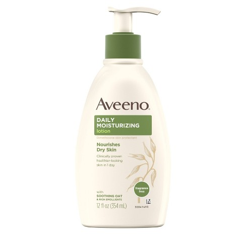 Unscented Aveeno Daily Moisturizing Lotion For Dry Skin - 12 fl oz - image 1 of 4