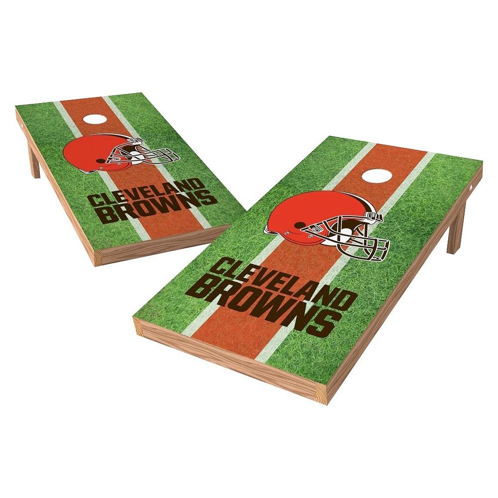 Cleveland Browns Wild Sports XL Shield Field Cornhole Bag Toss Set - 2x4 ft.