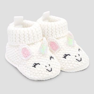 Baby Girls' Bootie Slippers   Just One You® Made By Carter's Pink/White Newborn by Just One You® Made By Carter's Pink/White Newborn