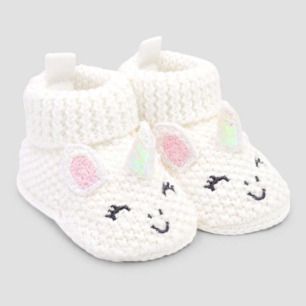 Image of Baby Girls' Bootie Slippers - Just One You made by carter's Pink/White Newborn, Girl's
