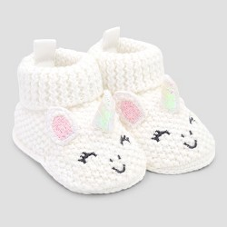 Baby Girls' Bootie Slippers - Just One You® made by carter's Pink/White Newborn