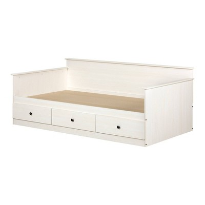 Twin Plenny Daybed with Storage White Wash - South Shore