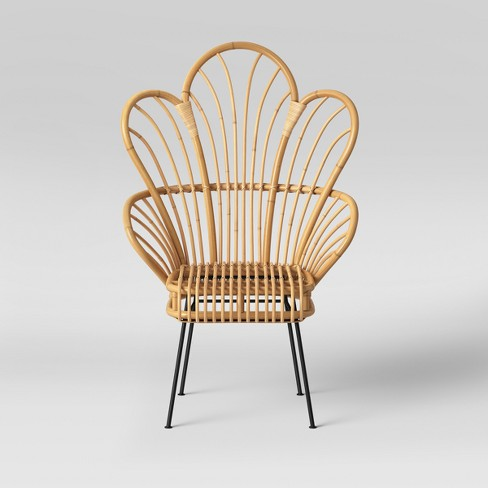 Avocet Rattan Fan Back Accent Chair - Opalhouse™ - image 1 of 5