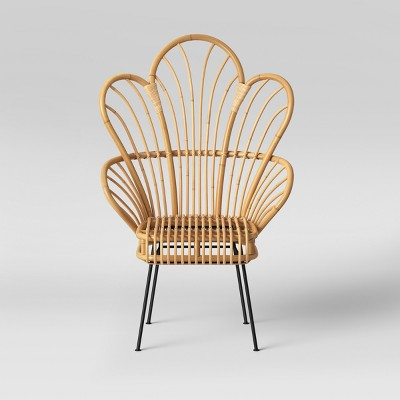 & Avocet Rattan Fan Back Accent Chair - Opalhouse™ : Target