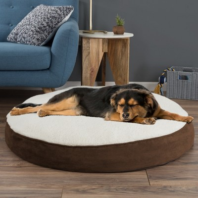 Petmaker Memory Foam Pillow Top Reversible Cats and Dogs Bed - Brown