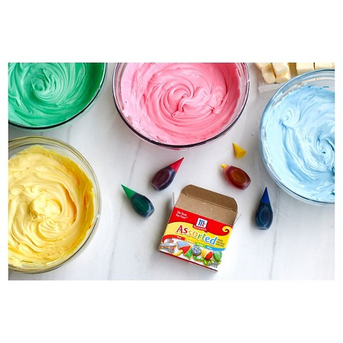 McCormick 4ct Assorted Food Color and Egg Dye - 1.2oz : Target