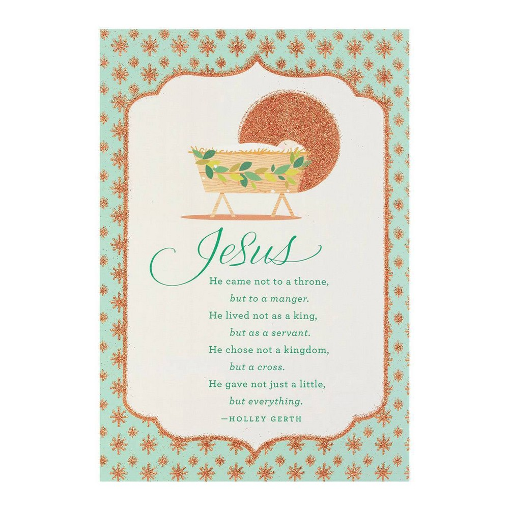 Image of 14ct Jesus Came Not To A Throne Greeting Cards - Dayspring