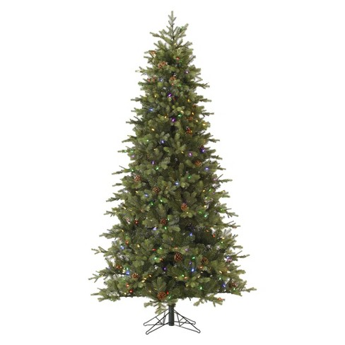 7.5ft Pre-Lit LED Artificial Christmas Tree Rocky Mountain - White Lights - image 1 of 1