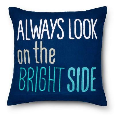 Bright Side Throw Pillow - 18  x 18  - Blue - Pillowfort™