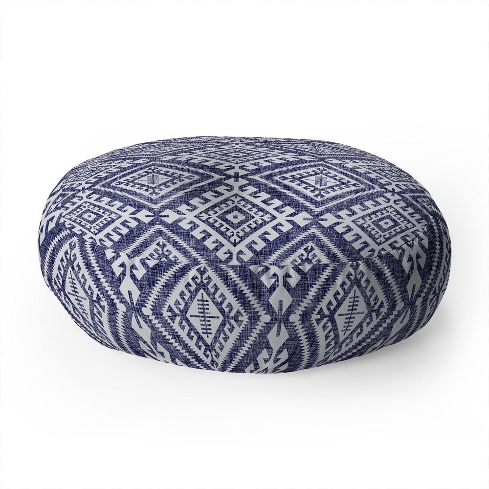 "Image of ""23""""x23"""" Holli Zollinger Shakami Floor Pillow Blue - Deny Designs"""