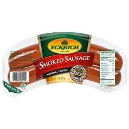 Eckrich Natural Casing Rope Smoked Sausage - 13oz