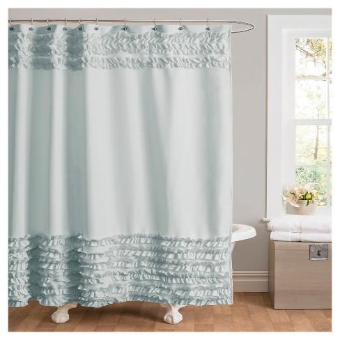 Skye Ruffle Shower Curtain Target