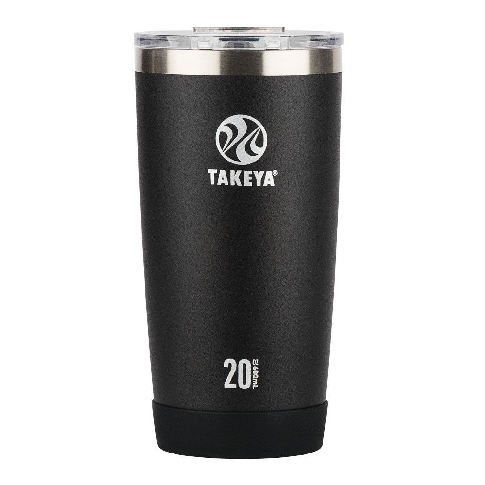Takeya Actives 20oz Insulated Stainless Steel Tumbler with Flip Lid - Black