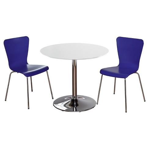 Hillsboro Dining Set White/Blue 3 Piece - TMS - image 1 of 2