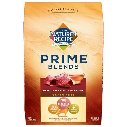 Nature's Recipe Prime Blends Grain Free Beef, Lamb & Potato Recipe Adult Dry Dog Food - image 1 of 4