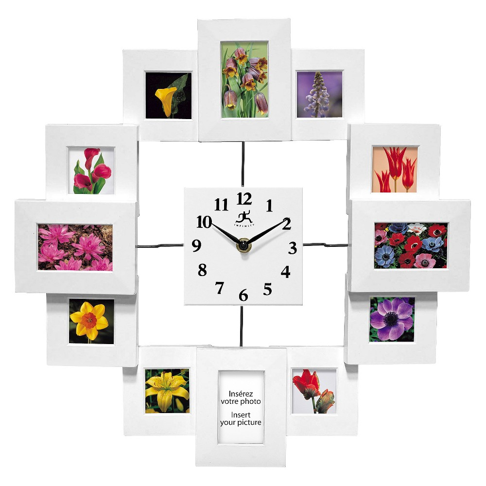 Time Capsule Clock-Frame Wall Clock White - Infinity Instruments