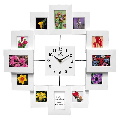 Time Capsule Clock-Frame Wall Clock White - Infinity Instruments® - image 1 of 1