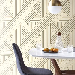Ribbon Peel And Stick Wallpaper Gold - Project 62™