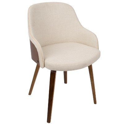 Bacci Mid - Century Modern Dining - Accent Chair - Gray Plaid - Lumisource