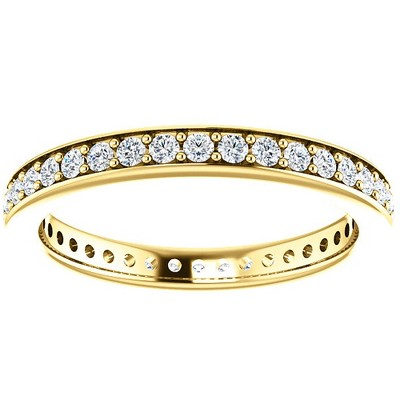 Pompeii3 1/2 Ct Diamond Eternity Ring Womens Wedding Band 14k Yellow Gold EX3 Lab Created