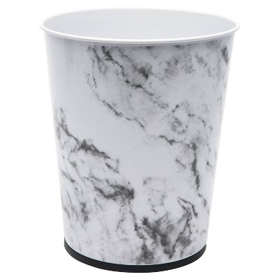Marble Round Waste Bin - Bath Bliss