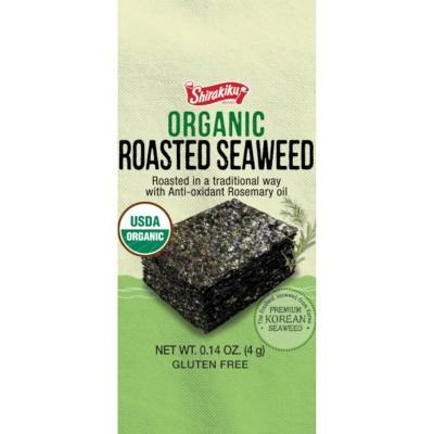 Shirakiku Organic Korean Seaweed - 0.42oz/3pk
