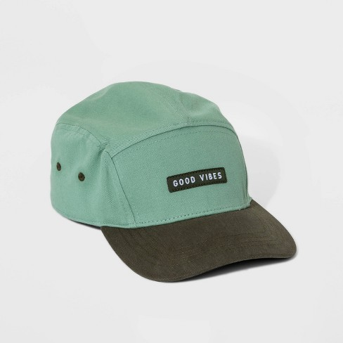 Boys' Animal Print Five-Panel Baseball Hat - Cat & Jack™ Green One Size - image 1 of 2