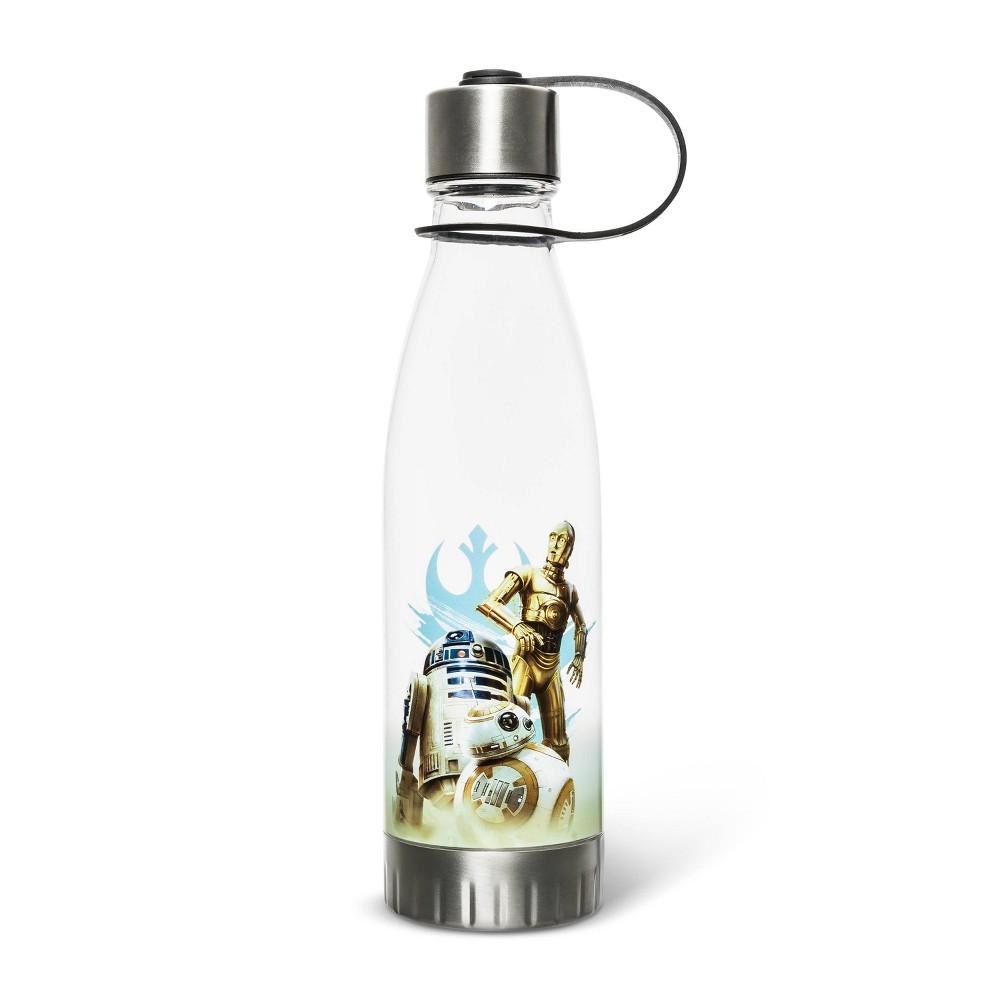 Image of Star Wars 20oz Plastic Tritan Water Bottle - Silver Buffalo