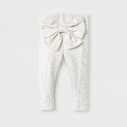7dd5b5102 Baby Girls' Bow Back Leggings - Cat & Jack™ White 3-6M : Target