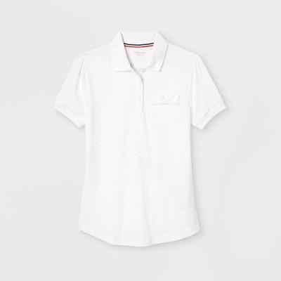French Toast Girls' Bow Pocket Uniform Jersey Polo Shirt
