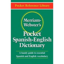 Merriam-Webster's Pocket Spanish-English Dictionary - (Pocket Reference Library) (Paperback)