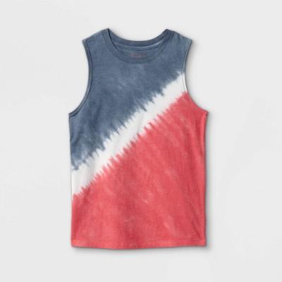 Boys' Tie-Dye Tank Top - Cat & Jack™ Navy/Red