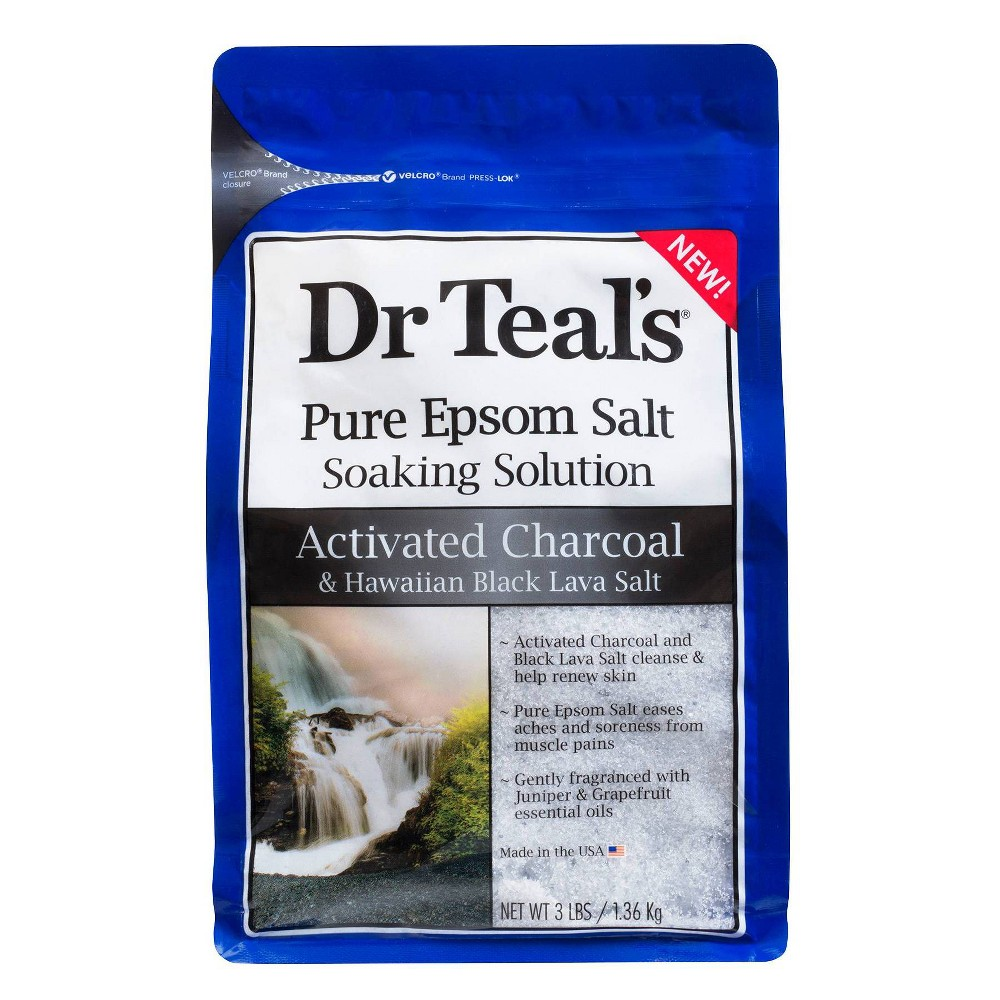 Image of Dr Teal's Charcoal Salt Soaking Solution - 48oz