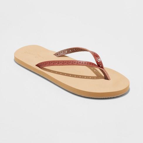 b0d9f4474f6b Women s Demi Flip Flop Sandal - Universal Thread™ Brown 8   Target