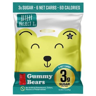 Project 7 Gummy Bears - 1.8oz/64ct