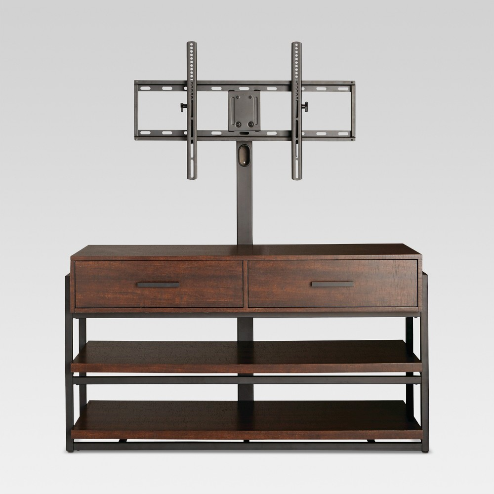 48 Mixed Material 3 in 1 TV Stand Brown - Threshold