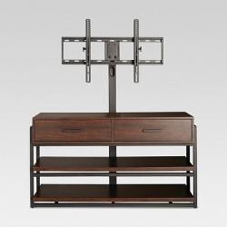 "48"" Mixed Material 3 in 1 TV Stand Brown - Threshold™"